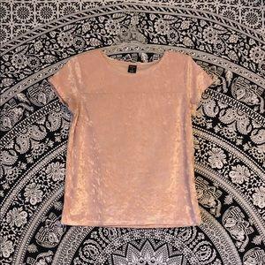 City Streets Pink Velvet Shirt